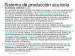 sistema de producci n acu cola