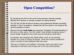 open competition