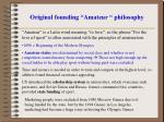 original founding amateur philosophy