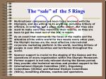 the sale of the 5 rings