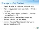development best practices