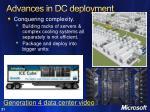 advances in dc deployment