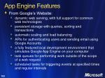 app engine features