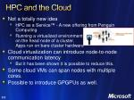 hpc and the cloud