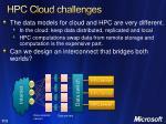 hpc cloud challenges