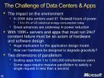 the challenge of data centers apps