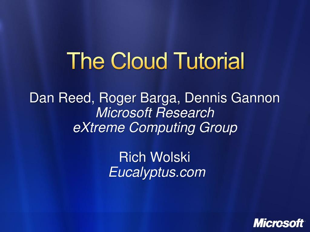 the cloud tutorial l.