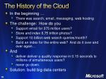 the history of the cloud