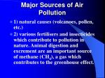 major sources of air pollution