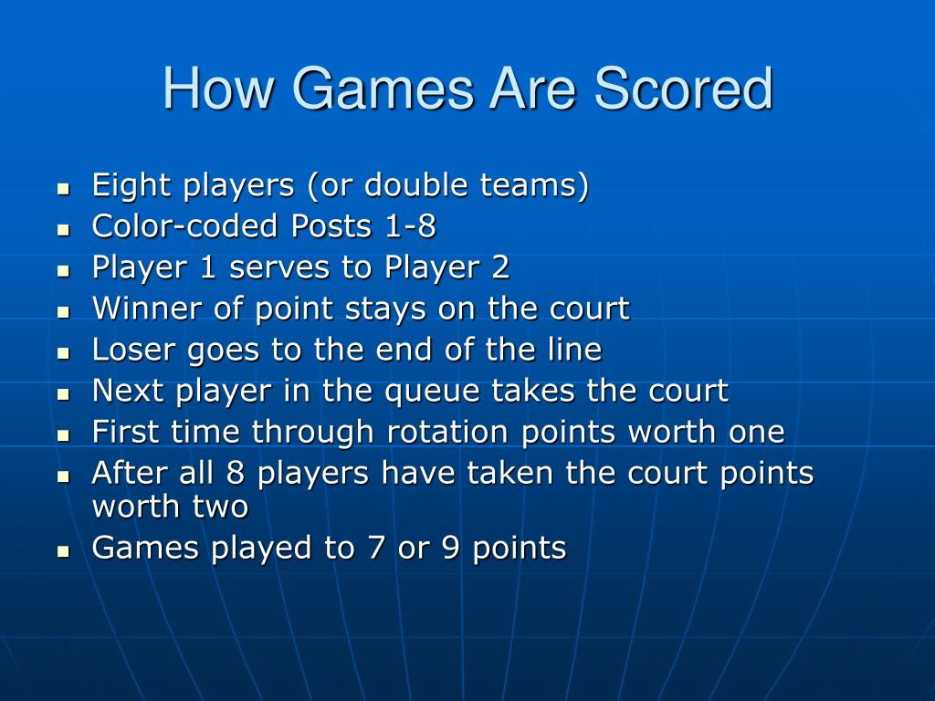 How Games Are Scored