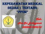 keperawatan medikal bedah 1 tentang ppom