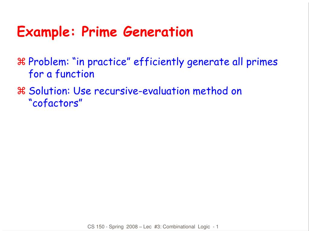 example prime generation l.