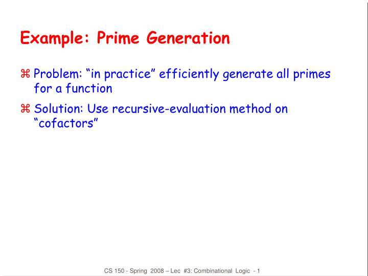example prime generation n.