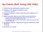 key problem both verilog and vhdl