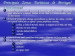 principais zonas tur sticas de portugal continental