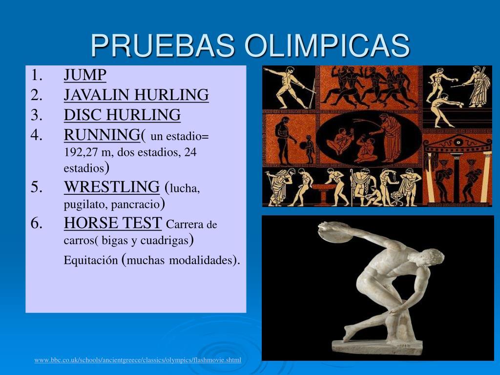 PRUEBAS OLIMPICAS