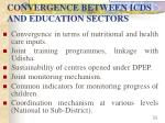 convergence between icds and education sectors