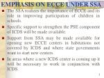emphasis on ecce under ssa