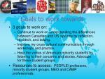 goals to work towards