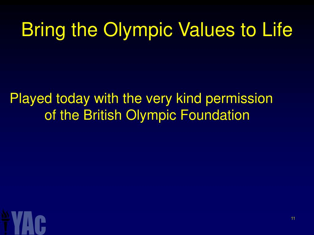 Bring the Olympic Values to Life