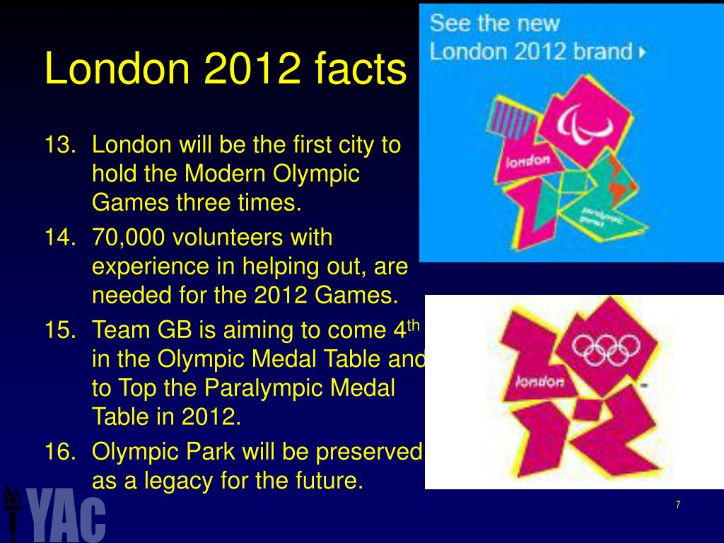 London 2012 facts