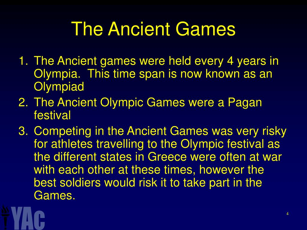 The Ancient Games