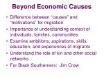 beyond economic causes