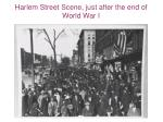harlem street scene just after the end of world war i