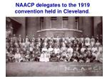 naacp delegates to the 1919 convention held in cleveland