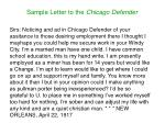 sample letter to the chicago defender