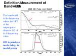definition measurement of bandwidth