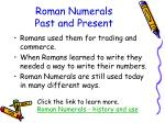 roman numerals past and present