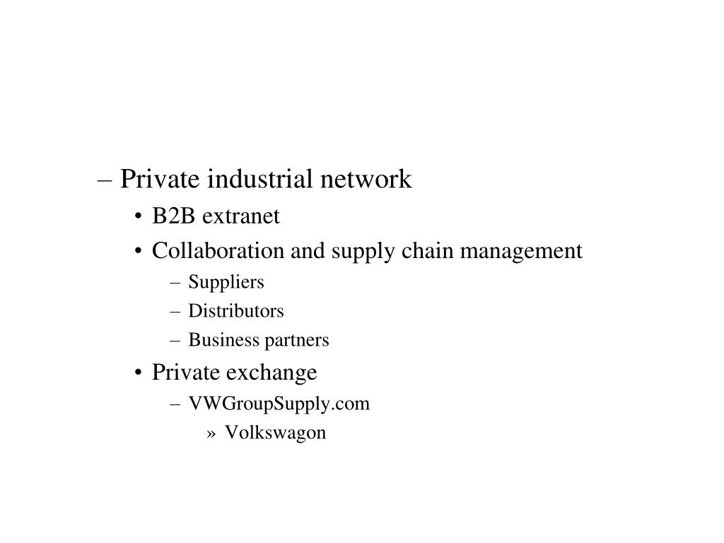Private industrial network