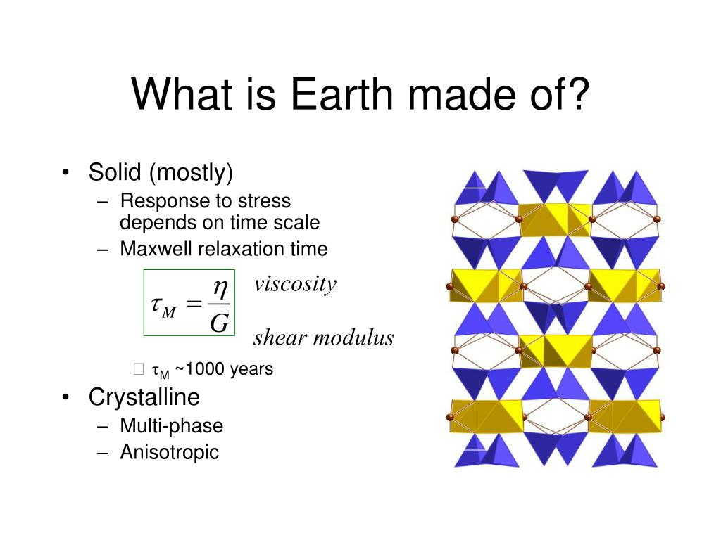 What is Earth made of?