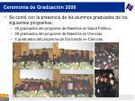 ceremonia de graduaci n 2008