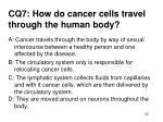 cq7 how do cancer cells travel through the human body