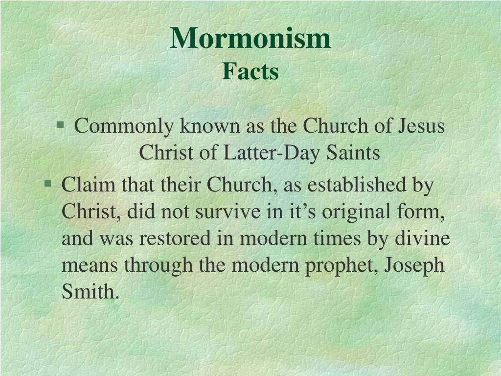mormonism facts l.