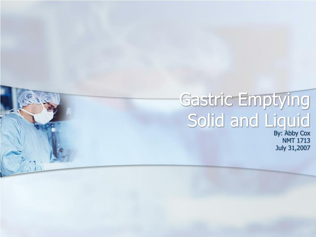 gastric emptying solid and liquid l.