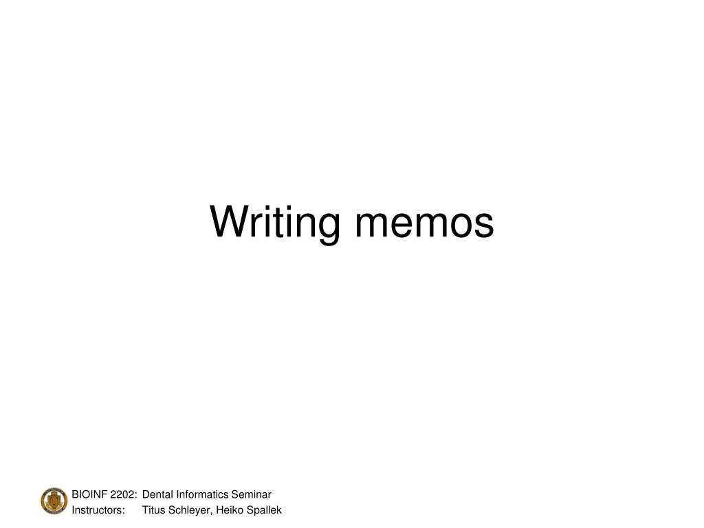 writing memos l.