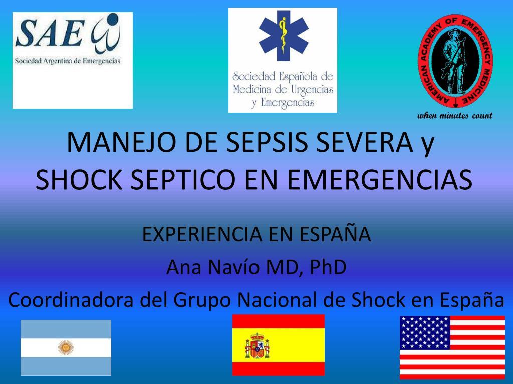 manejo de sepsis severa y shock septico en emergencias l.