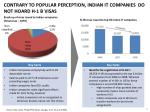contrary to popular perception indian it companies do not hoard h 1 b visas