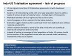 indo us totalisation agreement lack of progress