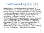 professional engineer pe