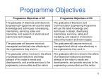 programme objectives11