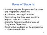 roles of students