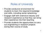 roles of university