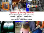 types of guarding devices