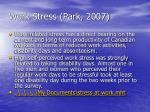 work stress park 2007