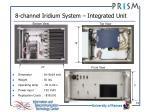 8 channel iridium system integrated unit