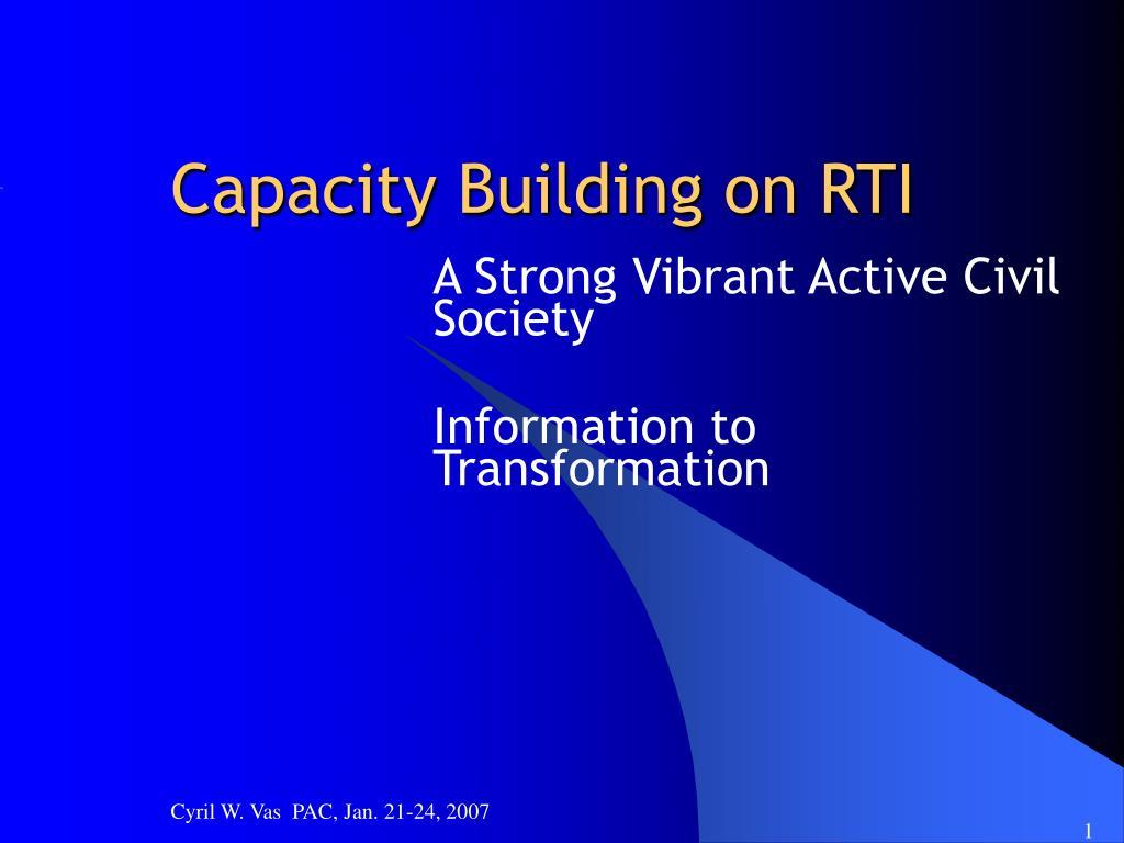 capacity building on rti l.